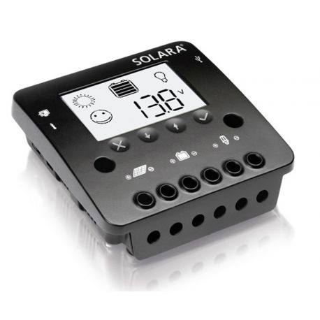12 volt 20 Amp Lader/regelaar Solara SR350LCD