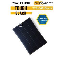 SUNBEAMsytem TOUGH 78Wp FLUSH - BLACK semi flexibel zonnepaneel