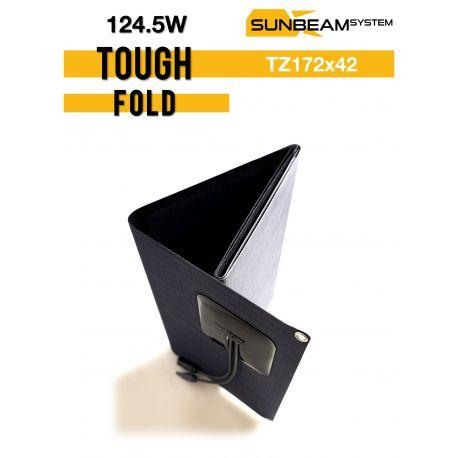 SUNBEAMsyatem TOUGH FOLD 124,5 Wp vouwbaar semi flexibel zonnepaneel