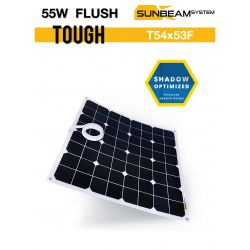 SUNBEAMsyatem TOUGH 55W FLUSH semi flexibel zonnepaneel