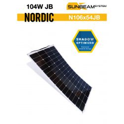 SUNBEAMsyatem NORDIC 100Wp - MC4 semi flexibel zonnepaneel