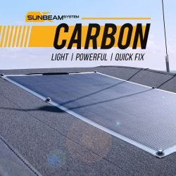 SUNBEAMsystem TOUGH+ CARBON 116W QUICKFIX SOLAR PANEL