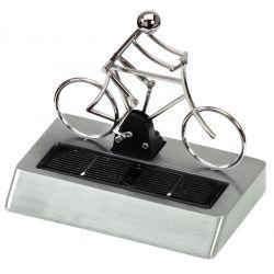 Zonne fietser van metaal