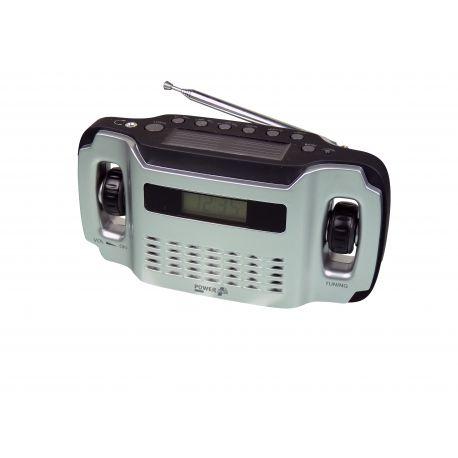 POWERplus Lynx, solar en dynamo oplaadbare AM / FM radio met LCD ...