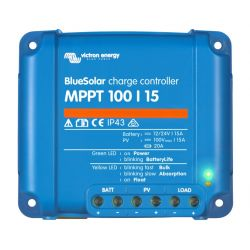 BlueSolar MPPT 100/15 Ultrasnelle Maximum Power Point Tracking (MPPT) Regelaar